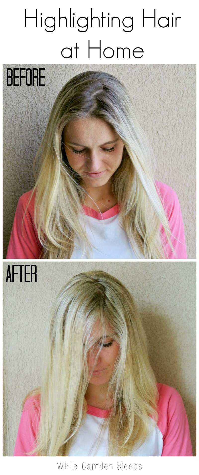 Tutorial on how to highlight hair at home using stuff from Sally's or Amazon.  There's a ton of before and after pictures which helps.  I use the same stuff and love it.