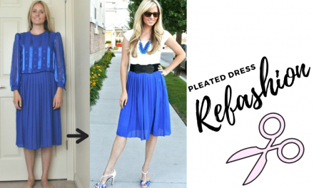Pleated Dress Refashion