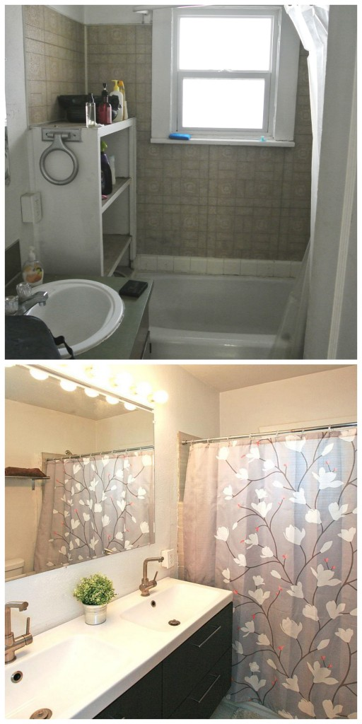 Before and after remodeling a bathroom