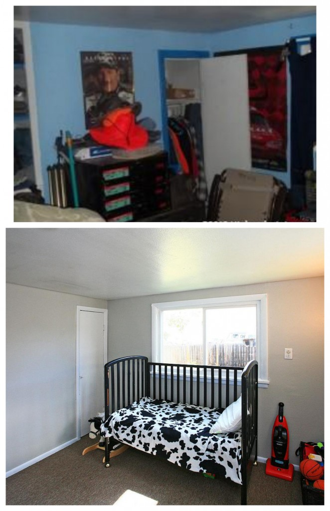 Before and After renovating the bedroom