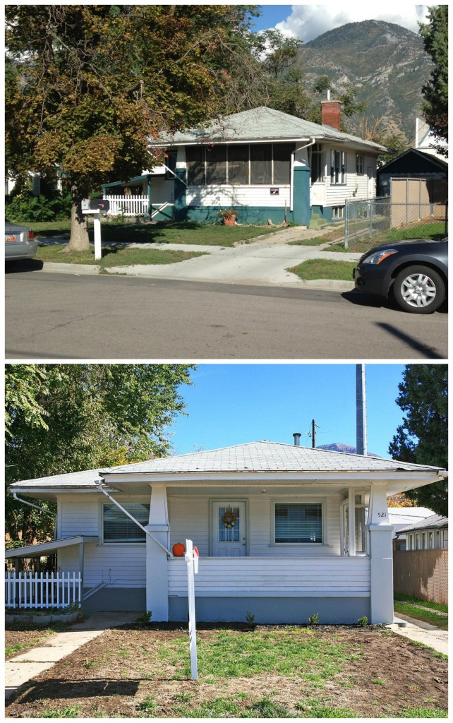 Before and After exterior remodel