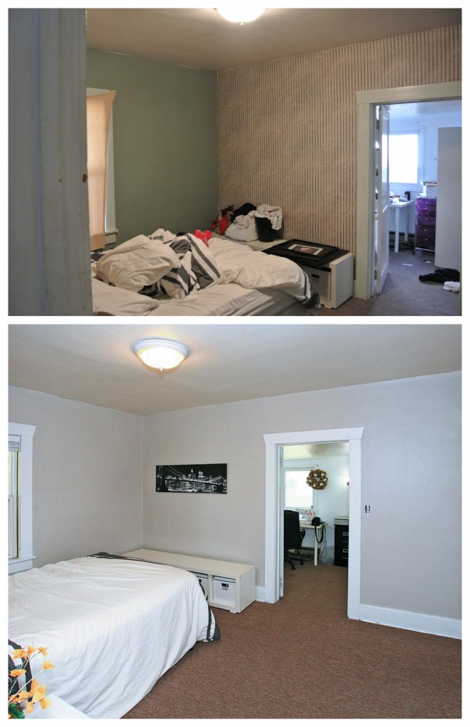 Before and After bedroom remodel