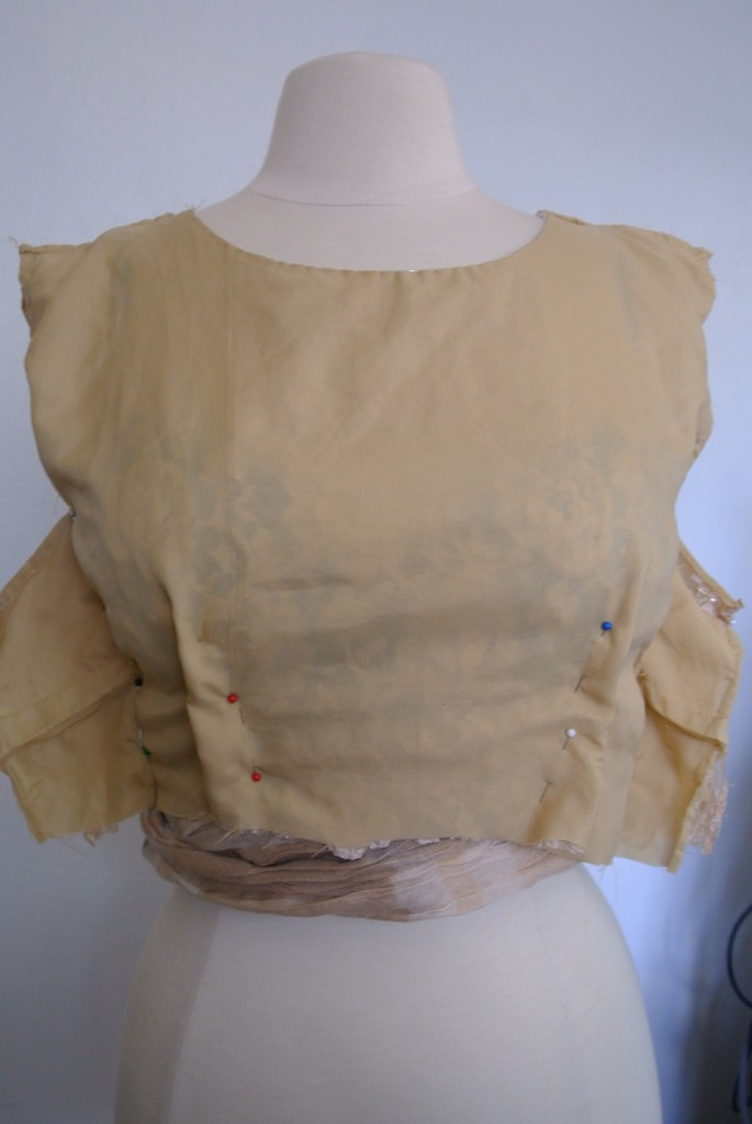 How to refashion a top into a dress bodice