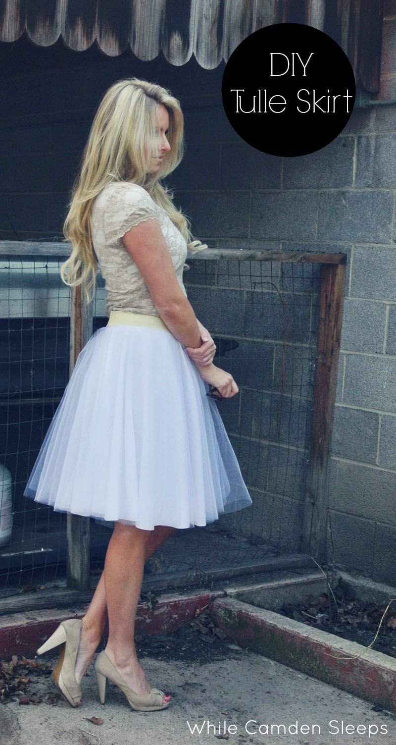Tulle Skirt tutorial. // While Camden Sleeps