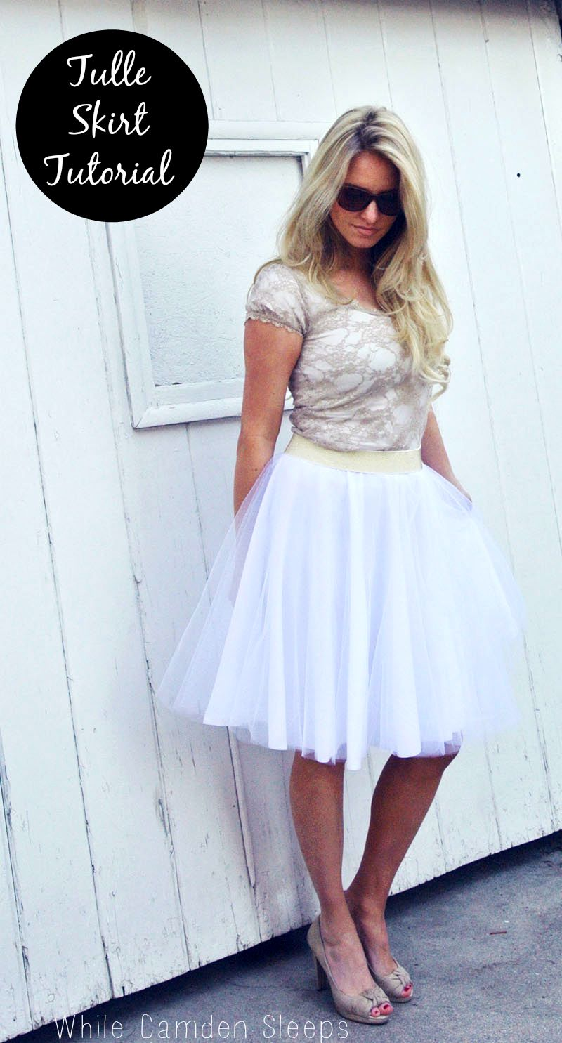 DIY Tulle Skirt Tutorial featured by top US sewing blogger, Kara Metta.