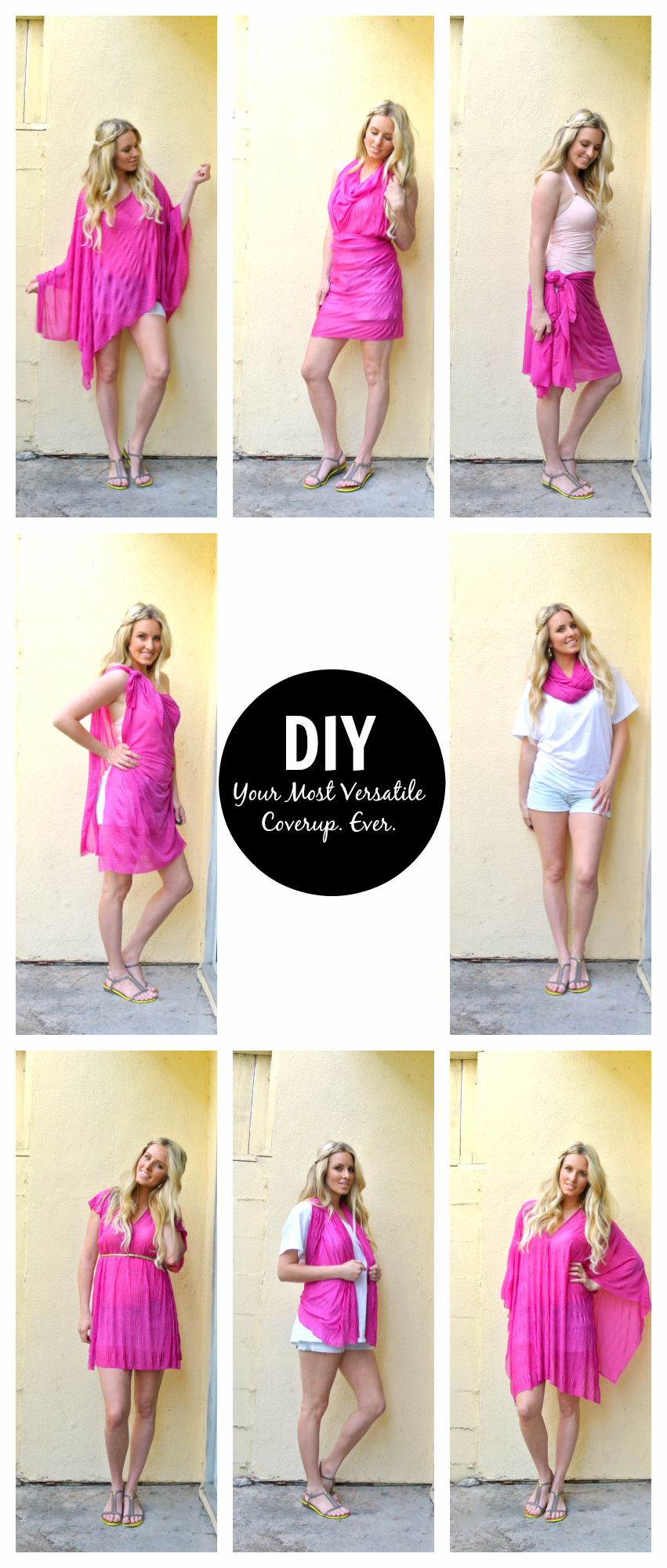 DIY Scarf Beach Cover Up Tutorial