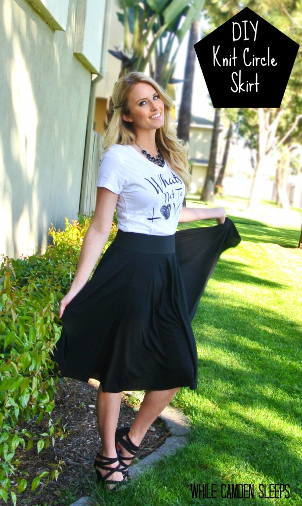Awesome and clear tutorial on how to make a basic circle skirt.  Who knew it was this easy?!