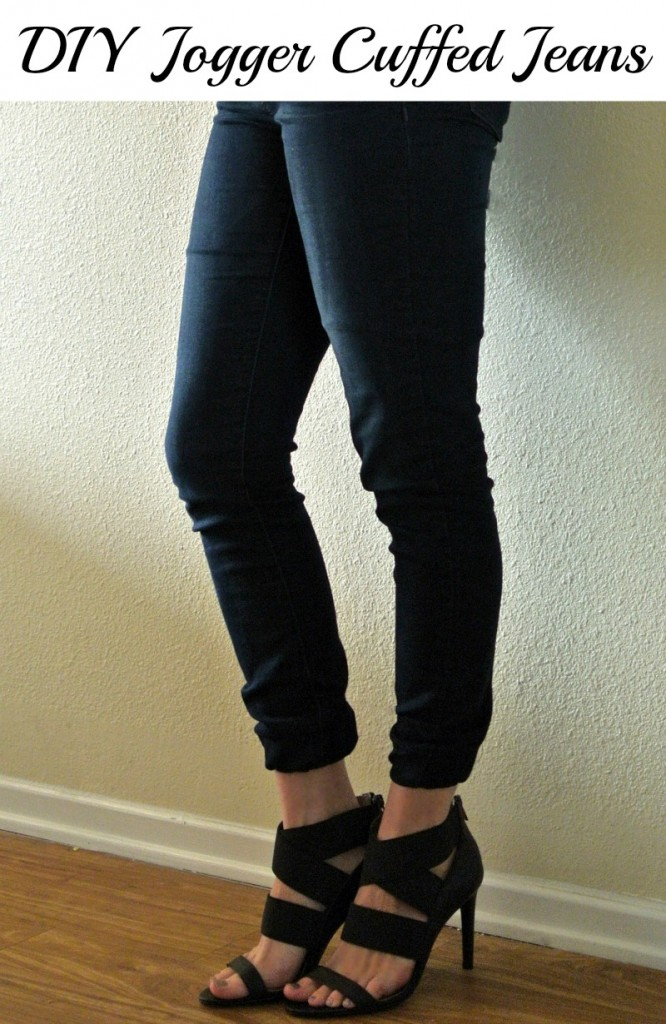 DIY jogger jeans.  So easy!