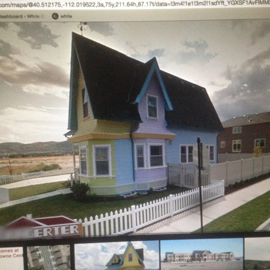 Someone made a real life replica of the house from Up!