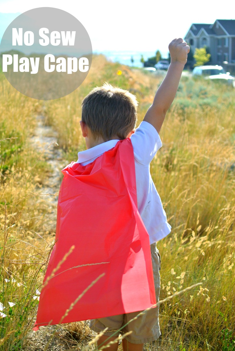 Simple no-sew cape tutorial.  Great as an activity for birthday parties. #shop #projectamazing #cbias