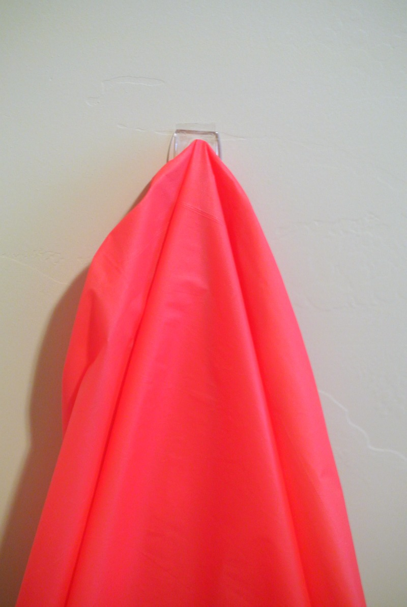 Using a Command hook to hang a cape. #shop #projectamazing #cbias