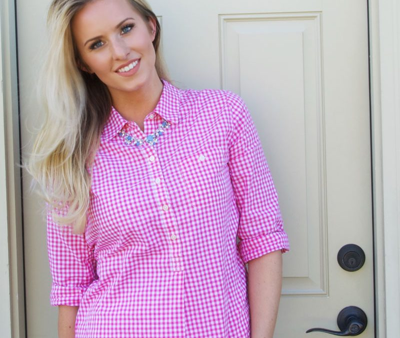 Gingham shirt, so versatile