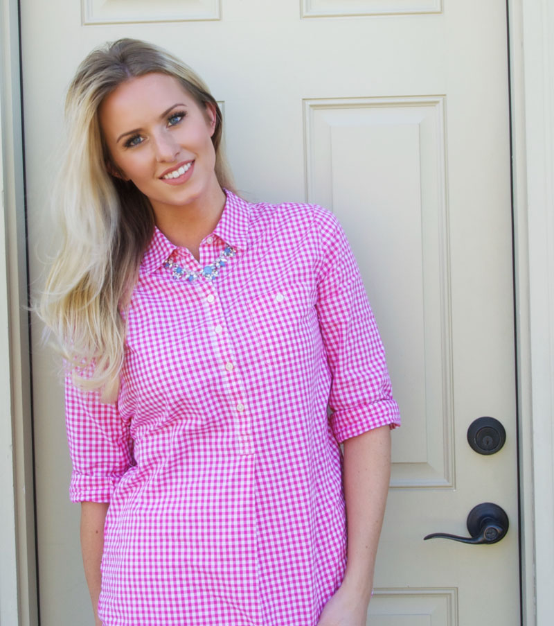 Gingham shirt, so versatile