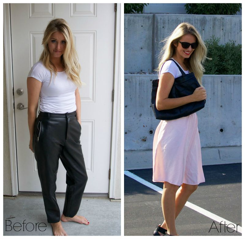 Pants to purse refashion.  Tons of sewing ideas on this blog.
