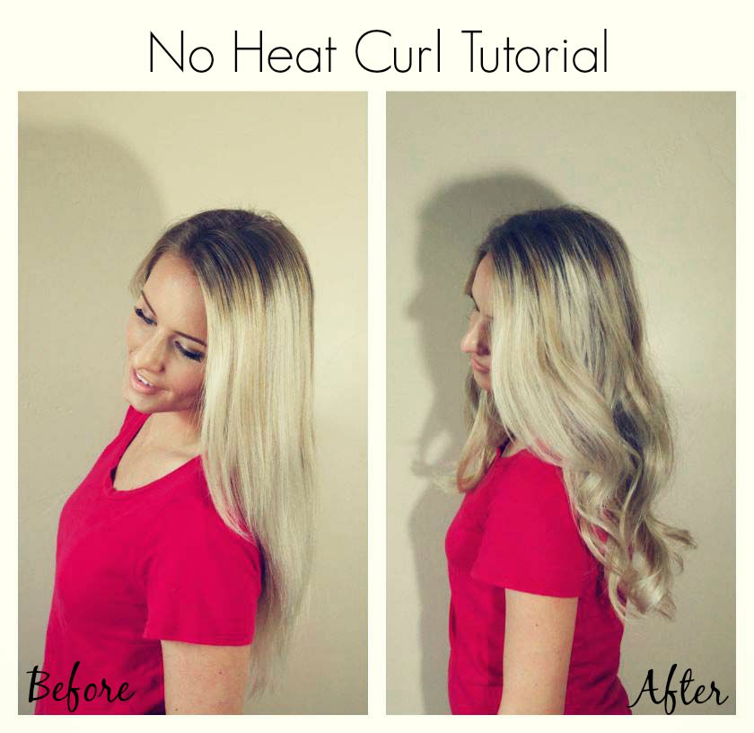 No heat curls!  Using a headband! #savvycurls