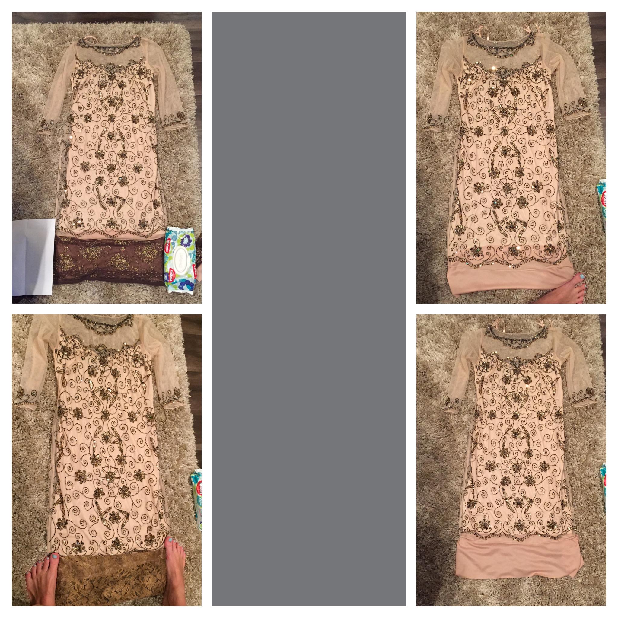 Adding length to a dress