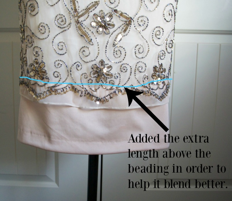 Adding length to a dress without ruining the original look.