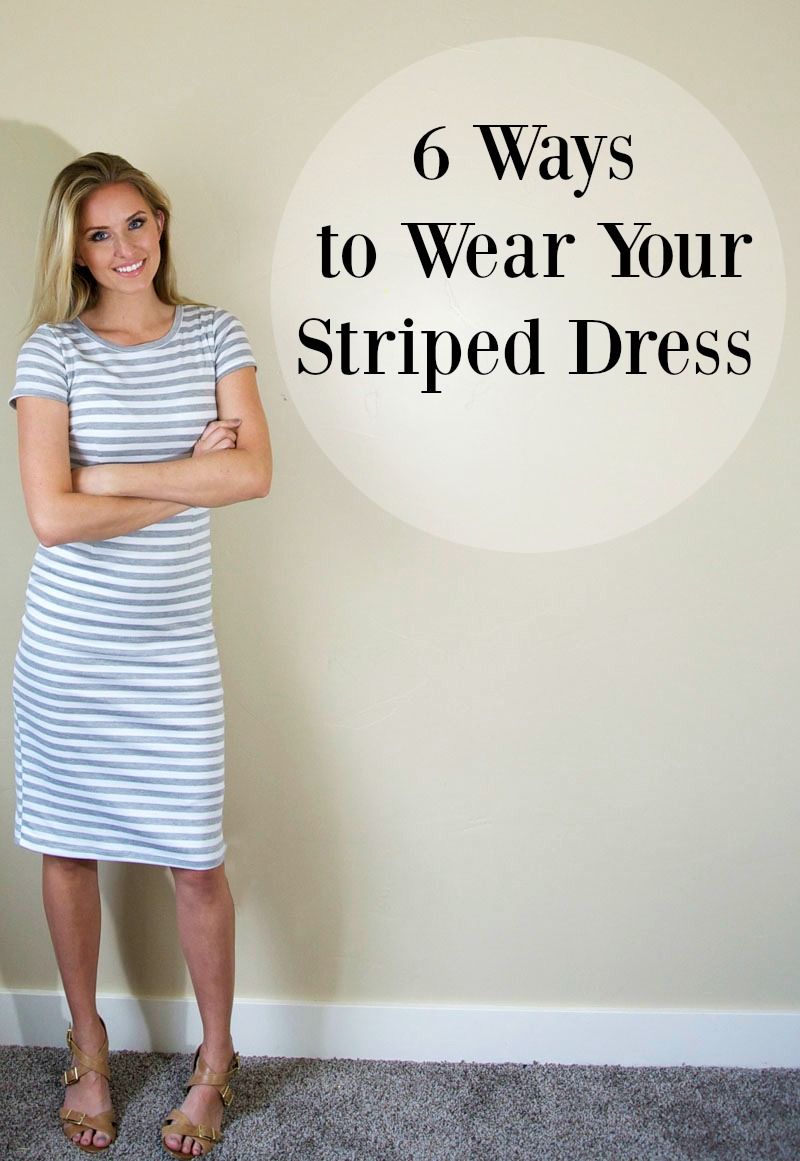6 Ways to wear a striped dress. Putting a crop top over it--genius!