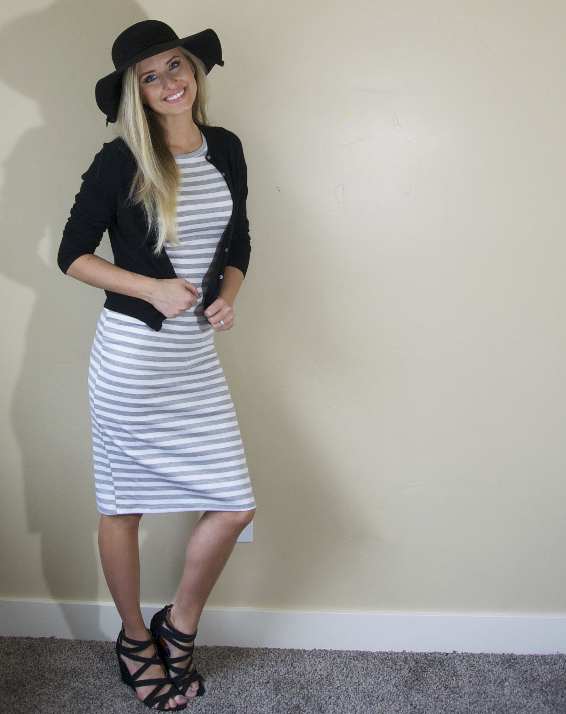 Different ways to wear a striped dress