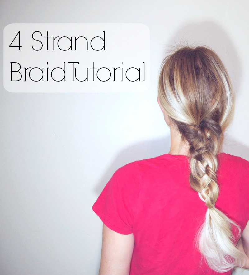 Simple 4 strand braid tutorial.  Explained so simply!