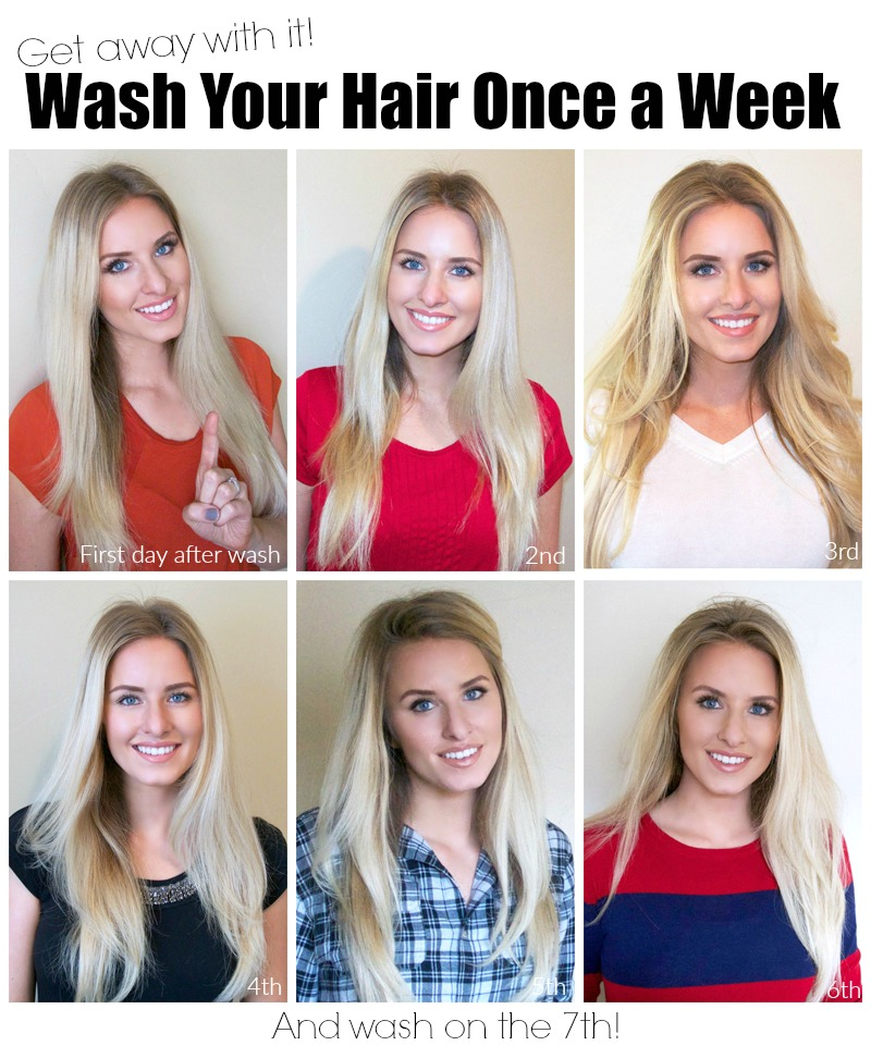 Tips and Tricks for Washing Hair Once a Week featured by top US lifestyle blogger, Kara Metta | Tips for washing your hair only once a week without looking dirty