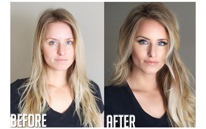 I love this natural makeup makeover because it shows how well a little bit of the right product can make a HUGE difference without looking fake. #naturalbeauty #naturalmakeup