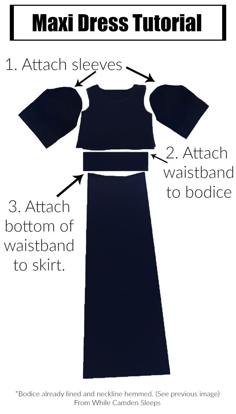 DIY maxi dress with lots of pictorial instructions.  Fool proof.