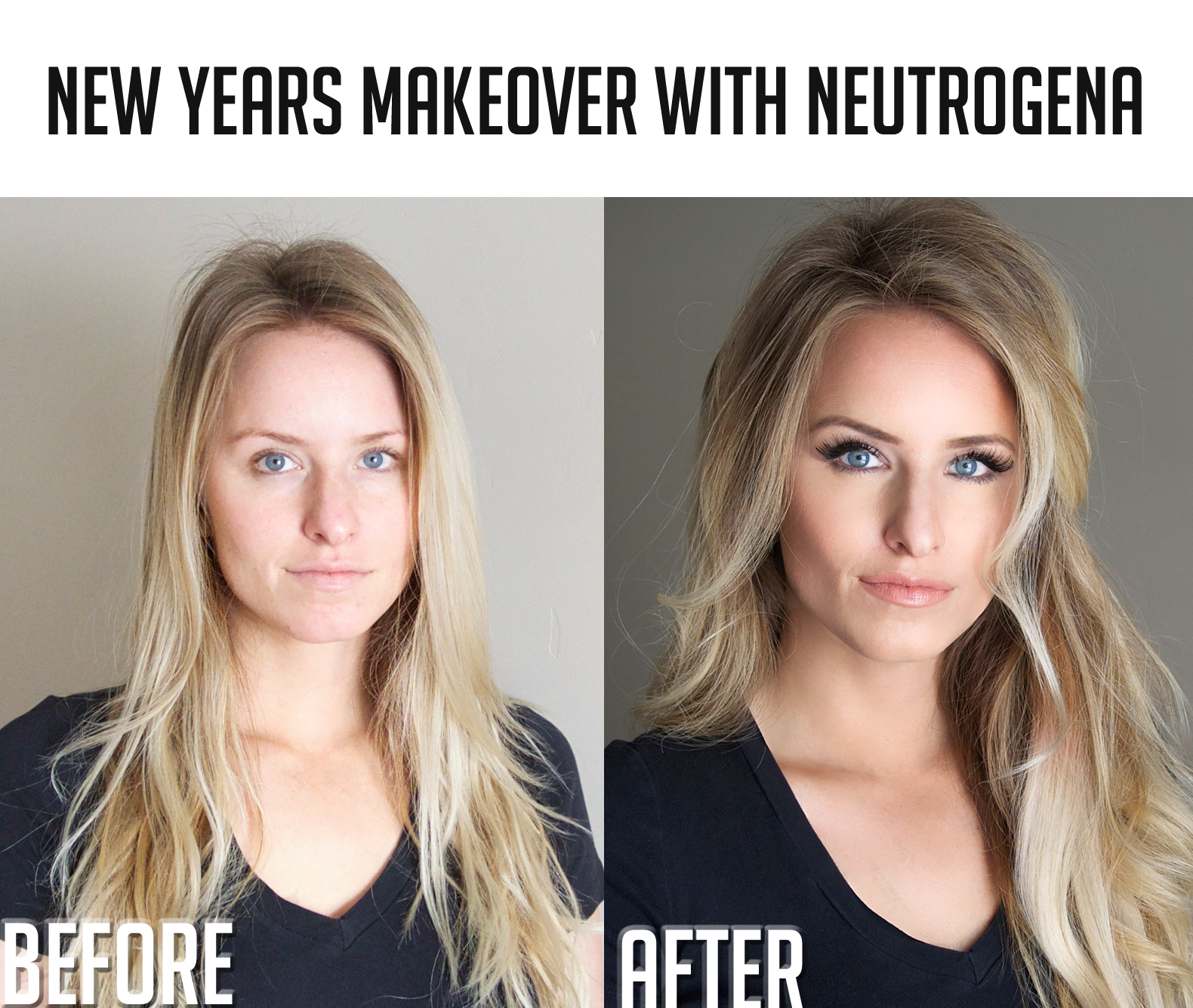 Glamourous, yet not overdone New Years look using Neutrogena products. #facetheholiday #ad #cb
