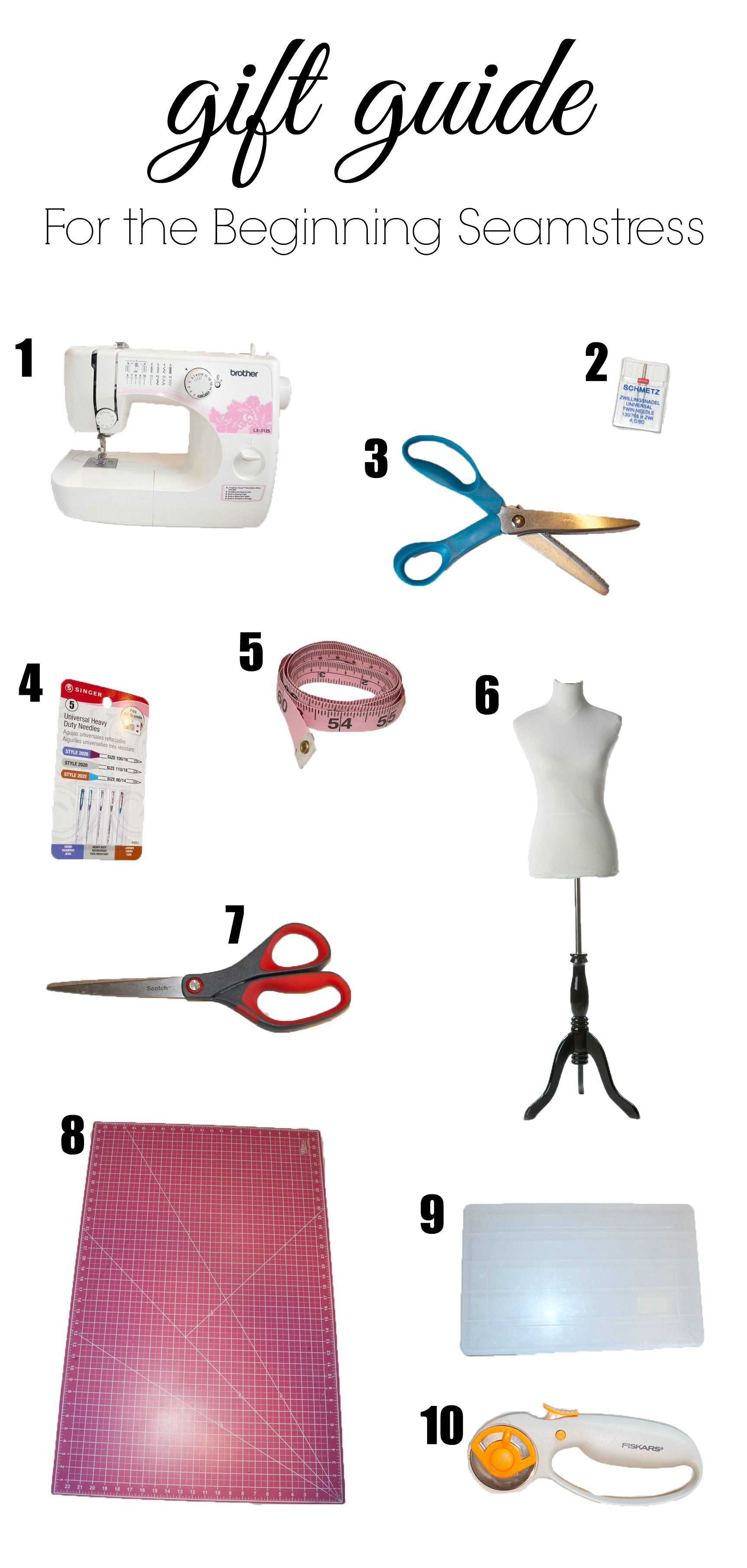 Seamstress Gift Guide for the beginning seamstress from someone who sews a lot