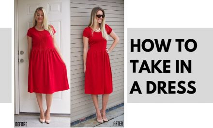 Sewing Tutorial: How to Take in a Dress