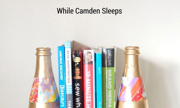 DIY Modern and Eclectic Bookend Bottles