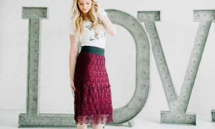 DIY Tiered Lace Skirt