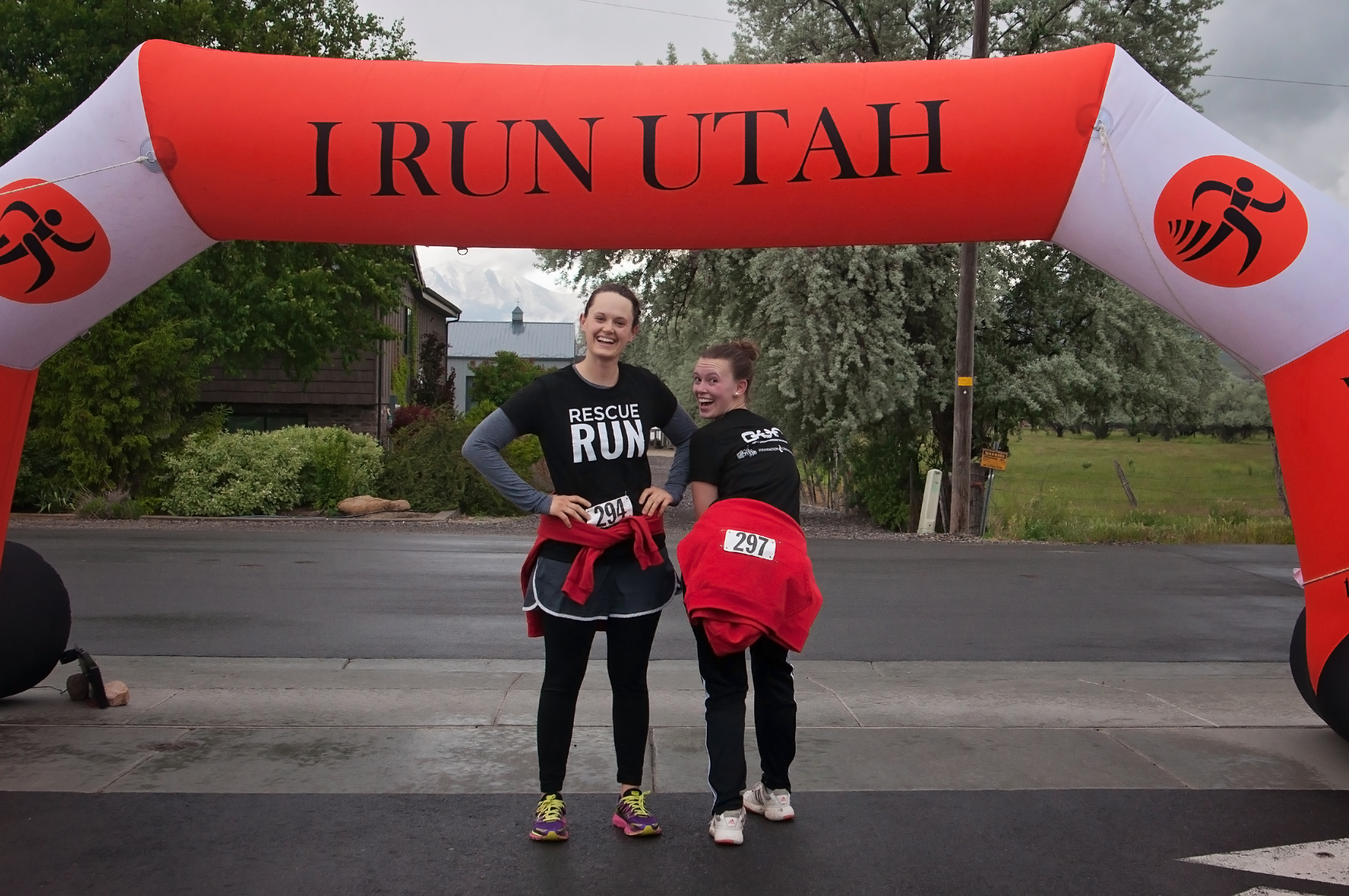 Rescue Run-68 (1) | How Much is a 5K by popular Utah lifestyle blogger, Kara Metta: image of a two runners at the Rescue Run marathon.