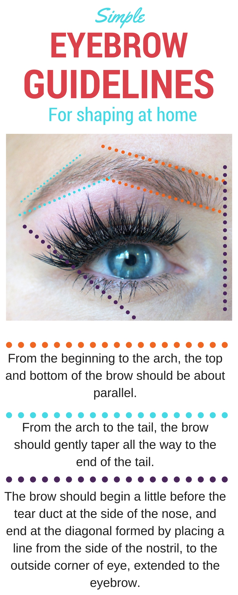 Basic guide for how to shape your eyebrows | How to Wax Your Eyebrows at Home by Popular Utah beauty blogger, Kara Metta: Pinterest image of how to shape eyebrows.
