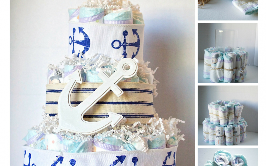 DIY Diaper baby shower gifts. #SuperAbsorbent #CollectiveBias #ad