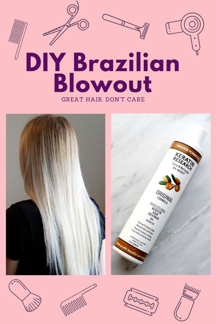 At home Brazilian Blowout / Keratin Treatment you can do yourself and can purchase from Amazon. Seriously, my hair has never been softer or easier to manage. #diybrazilianblowout #brazilianblowout #howtobrazilianblowout