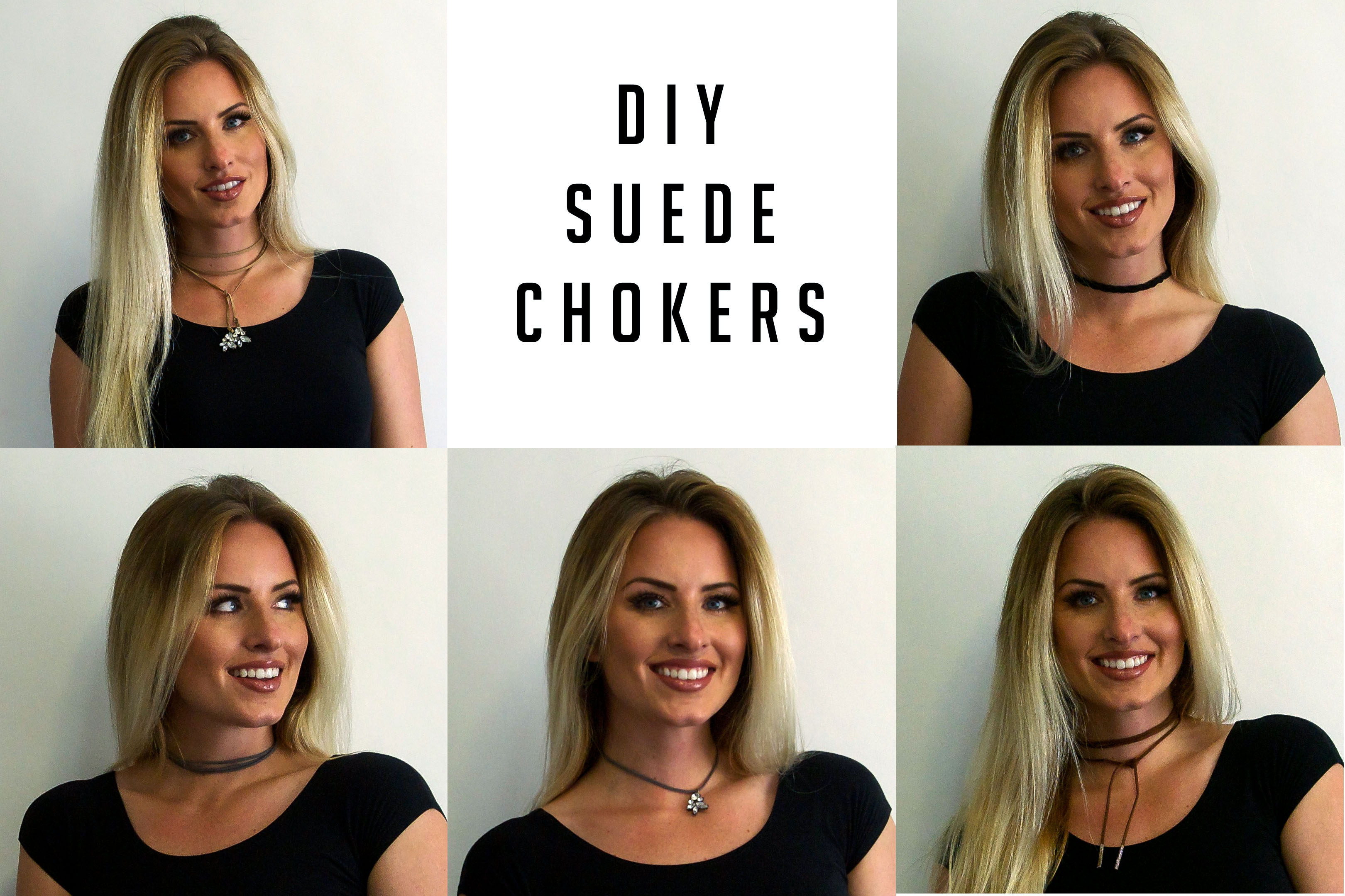DIY Suede Chokers quick and easy.