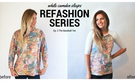 Refashion Series Ep: 2 The Baseball Tee