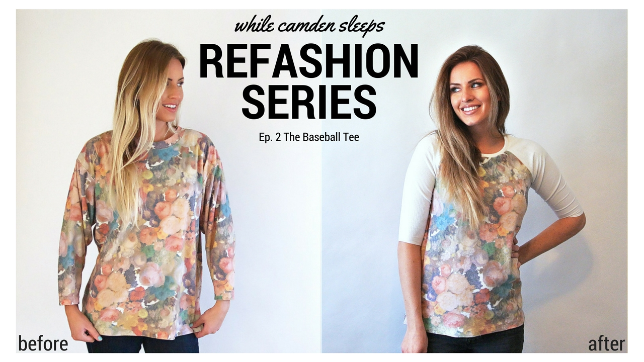Refashion Series ep. 2 The baseball Tee