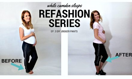 Refashion Series Ep. 3 DIY Sweatpants to Jogger Pants