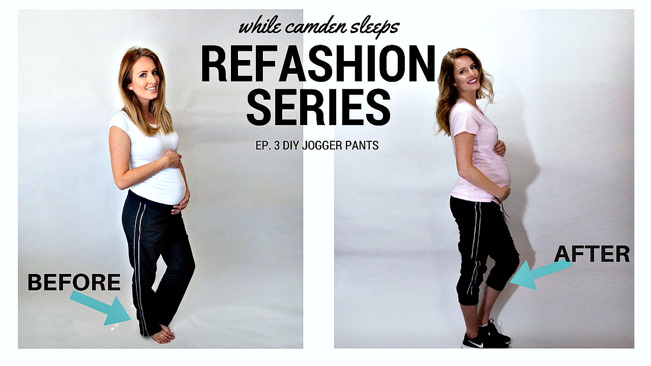 DIY Jogger Pants from old sweatpants. Can be done in under an hour! This page has a complete video tutorial. Refashion Series Ep. 3