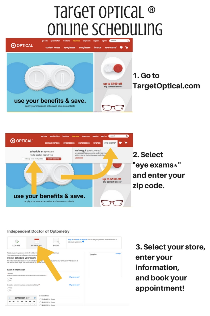 Quick guide to how easy it is to make an appoint at Target Optical® #treatyoureyes #ad @target