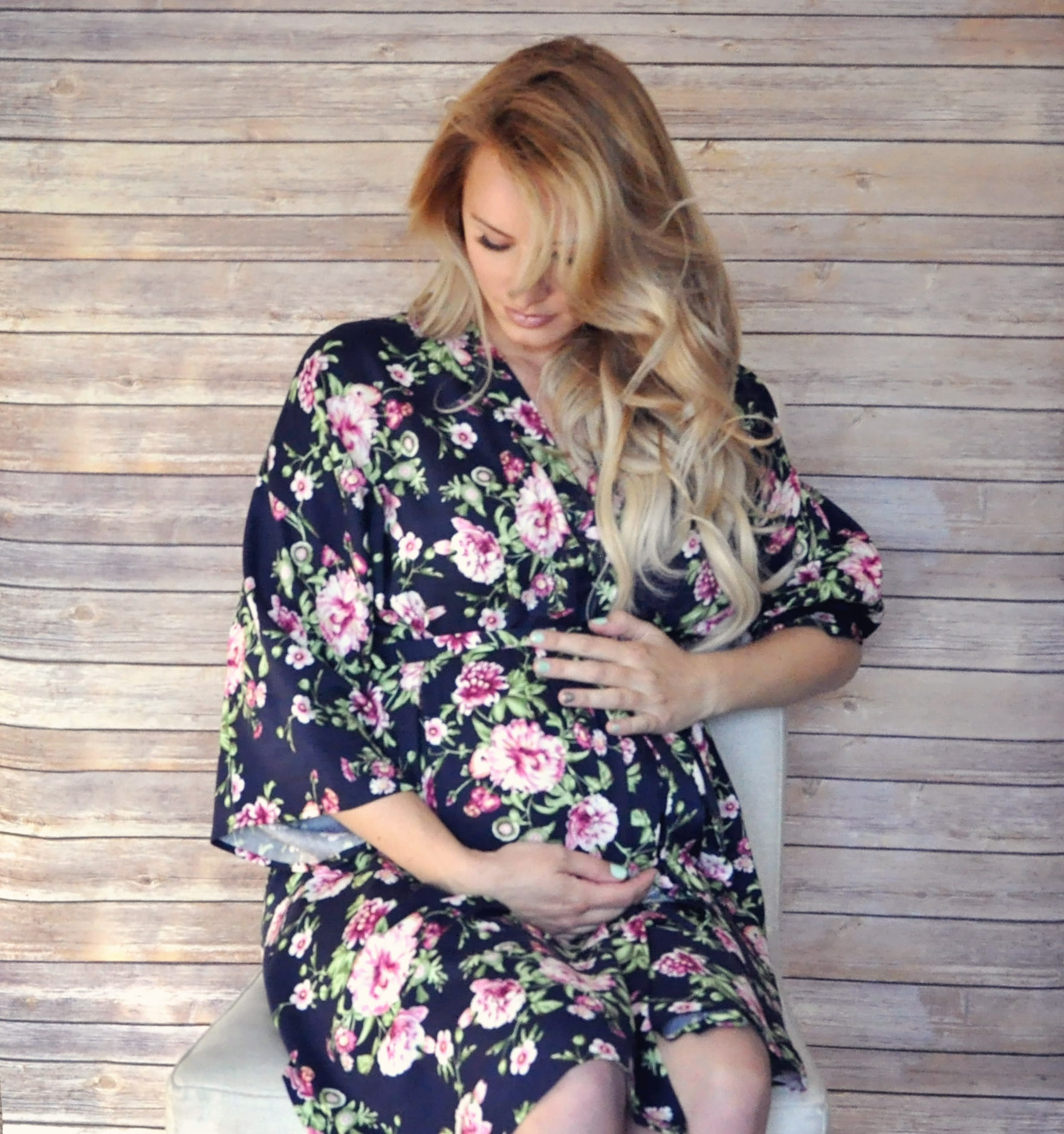 Maternity delivery/nursing robe