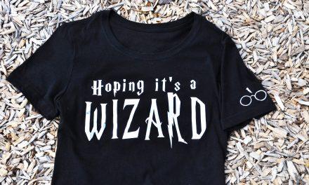DIY Cricut Foil Shirt : Hoping It's a Wizard