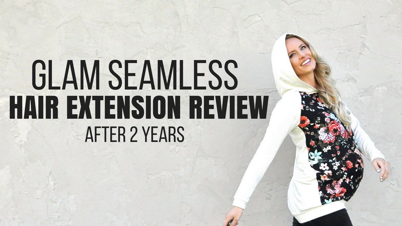 Glam Seamless Clip In Extension Review | Glam Seamless Hair Extensions Review by popular Utah beauty blogger, Kara Metta: image of a woman with Glam Seamless hair extensions.
