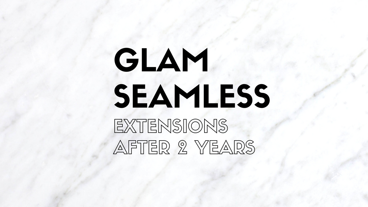 Glam Seamless Clip In Extension Review | Glam Seamless Hair Extensions Review by popular Utah beauty blogger, Kara Metta: Glam Seamless hair extensions digital poster.