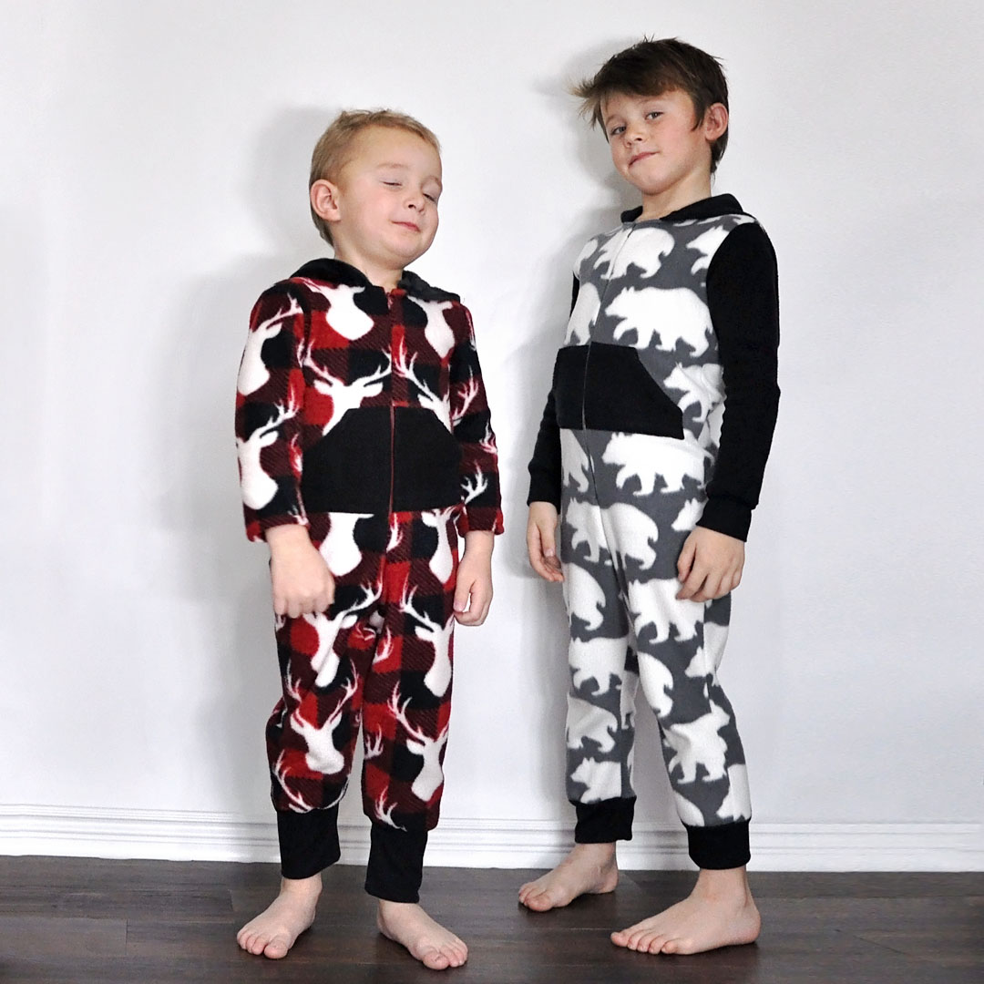 Holiday Jammies using McCall's M7518 and M7039