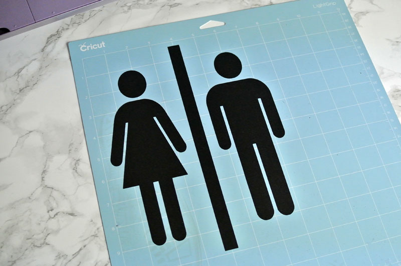 DIY Bathroom signs with your cricut machine. #handmadewithjoann
