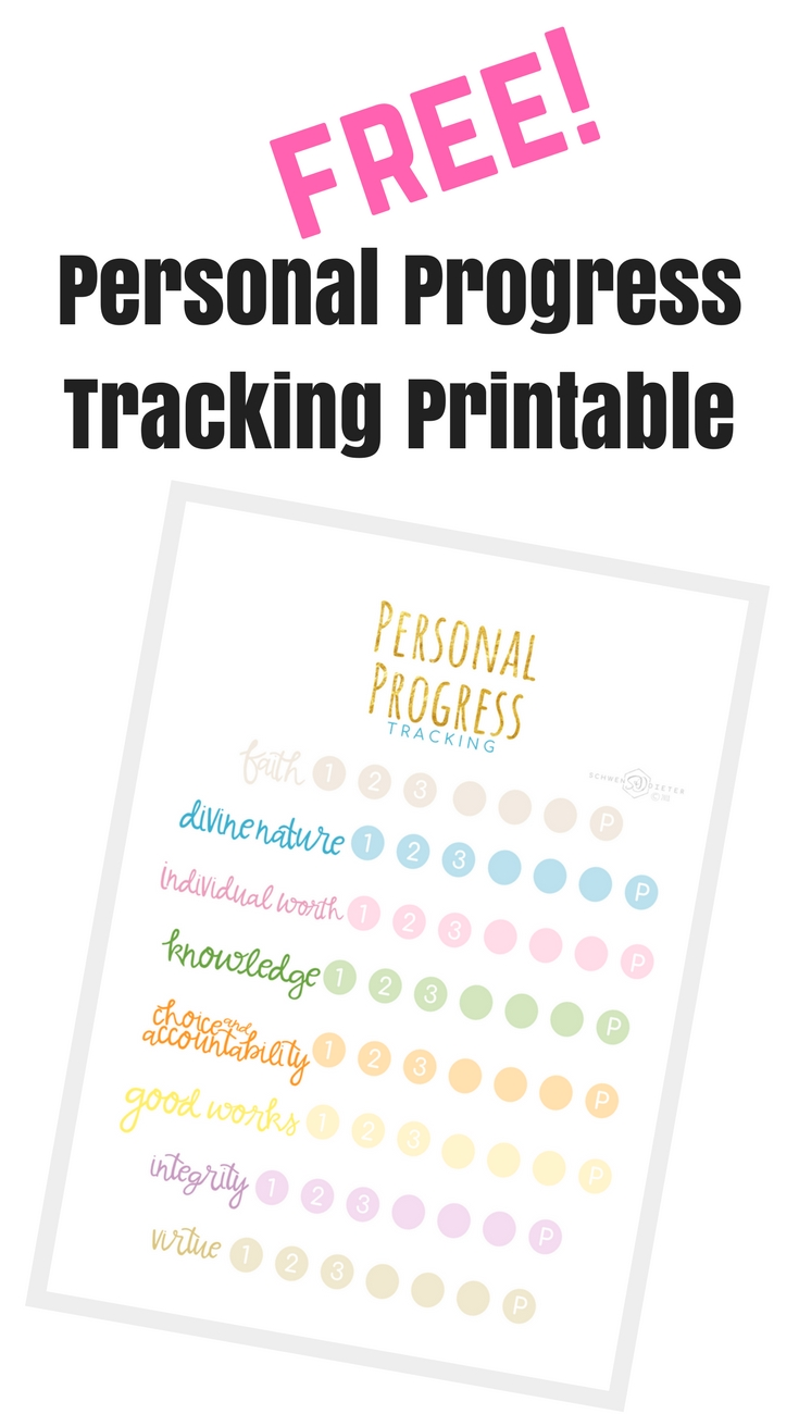 Free personal progress tracking printable!