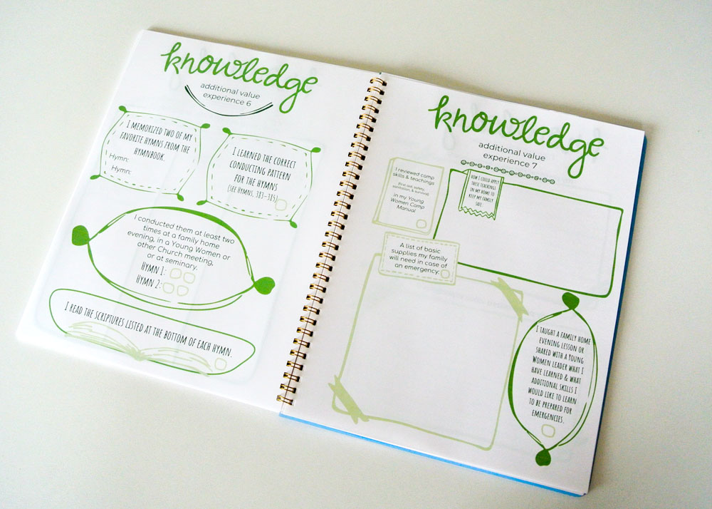 Super cute Personal Progress booklet beautifully designed to help inspire and motivate young women.